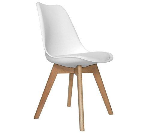 Fashion commerce design tower set di 2 sedia, polipropilene, bianco, 49x47x82 cm