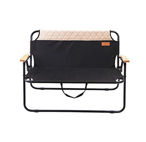 Q&Y-Klappstuhl Klappbarer Camping-Sessel Leichter Loveseat-Stuhl Outdoor, Camp, Picknick, Wandern - Aluminium Loveseat Bank