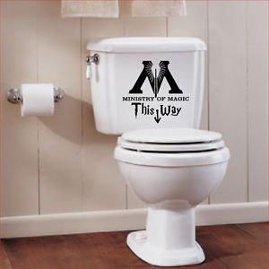 Preisvergleich Produktbild Harry Potters auf diese Weise Ministry of Magic WC-Sticker (schwarz) 25cm