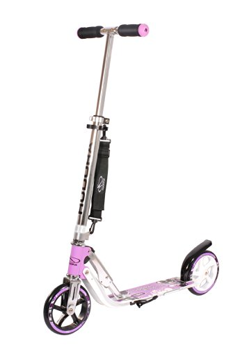 HUDORA Big Wheel 180 Scooter, Tret-Roller - City-Scooter klappbar, lila, 14746