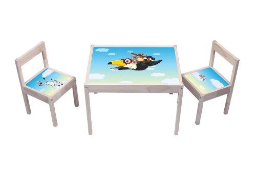 """""""Tierwelt"""" Aufkleber - KA06 - (Möbel nicht inklusive) - Möbelsticker passend für die Kindersitzgruppe LÄTT von IKEA"""