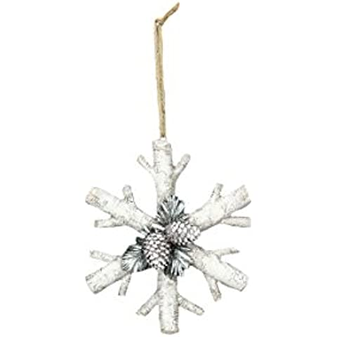Giovani del Inc giovani della resina Betulla Snowflake Ornament, 6