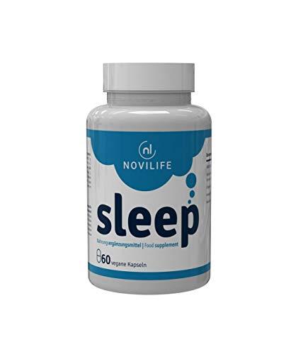 Novilife - sleep | besser schlafen und schneller einschlafen und endlich wieder Durchschlafen | verbesserte Tiefschlafphase sowie Regeneration | Einschlafhilfe Erwachsene