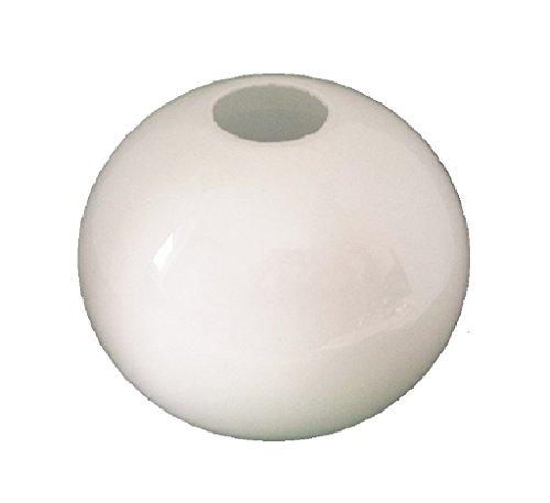 20.0cm Durchmesser Weiß Glas Anhänger Globe Lampenschirme. Umfang: 63 cm, Leuchte-Loch: 3.1cm, Großes Loch: 9cm (Kugel, Kreis, Kugel, Licht, Ersatz)