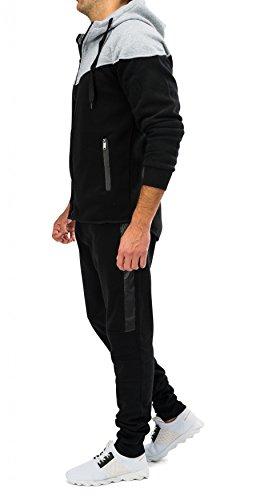 Tuta da jogging da uomo con cerniera STRENGTH H1576 Nero
