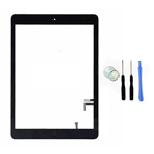 Ersatz Touchscreen Glas Digitalisierer für Apple iPad Air 1. Generation Schwarz–Zhaoxing Front Display Montage unterstützt Sleep/Wake-Up Funktion, Home Button und Kamera Halterung & selbstklebend geliefert