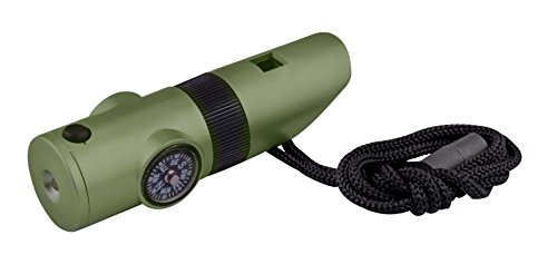 SE CCH7-1G 7-IN-1 SURVIVAL WHISTLE IN GREEN