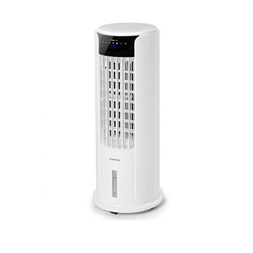 Klarstein Skyscraper Horizon • HR1 • Ventilatore a Torre • Umidificatore • Raffreddatore ad Acqua• 3 Modalità • 60 Watt • Timer • Ruote • Controllo Touch • Silenzioso • Colore Bianco