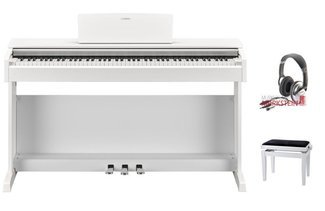 Yamaha ARIUS YDP-143WH SPAR-Set Digitalpiano mit Klavierbank und Kopfhörer