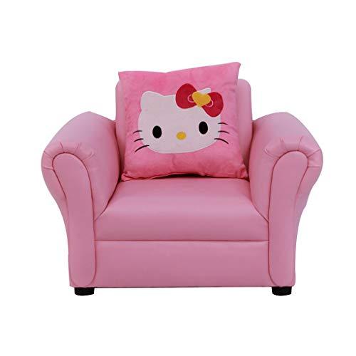Yongjun divano per bambini in pelle, mini poltroncina, divano singolo, sgabello per bambini, adatto a ragazzi e ragazze di 1-10 anni, 69 × 55 × 48cm (colore : pink)