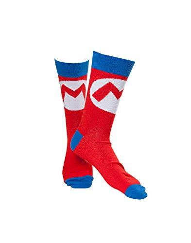 Oficial Super Mario Bros Mario Logo adultos equipo calcetines - Reino Unido 6-9