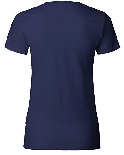 Apres Ski Brille - Damen T-Shirt Navy