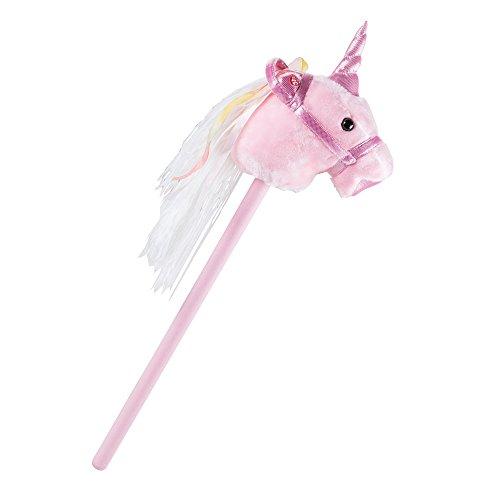 BHP Stecken Pferd pink Mädchen Plüsch Sound Effekt Einhorn Kinder Zimmer Spielzeug rosa B800002