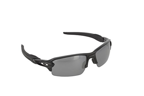 Oakley Herren Sonnenbrille Flak 2 Schwarz (Polished Black/Blackiridiumpolar), 59