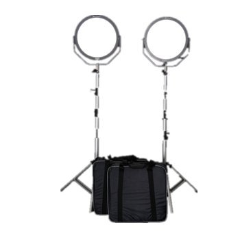Falcon Eyes 2*SO-48TD 48W FlapJack LED Dimmable 3000-5600K Lighting Soft Light Set with 2.6 Meter Light Stand