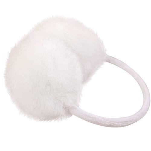 Nanxson(TM Damen Warm Plüsch Ohrwärmer Ohrenschützer Earmuff EZ0008 (Weiß)