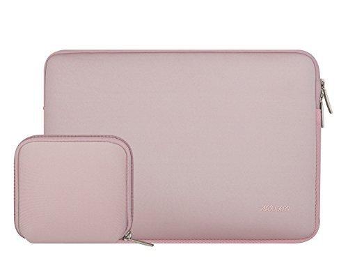 MOSISO Wasserresistente Lycra Laptop Hülsen Beutel Abdeckung für 13-13.3 Zoll MacBook Pro, MacBook Air, Notebook mit kleinem Kasten Fall, Baby Rosa