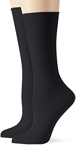 Hanes Socken Blau (ELBEO Damen Socken Roll-In Light Cotton DP, 2er Pack, Blau (Marine 9565), 42 (Herstellergröße: 39-42))