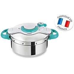 Seb P4620616 ClipsoMinut' Easy Autocuiseur Inox Tous feux dont induction et Livres 100 recettes Acier Inoxydable Bleu 4,5 L