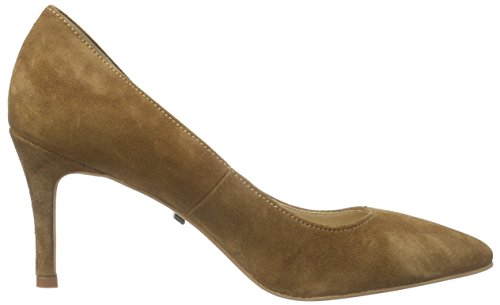 Buffalo London Es 30679 Kid Suede Damen Pumps Braun (Camel)
