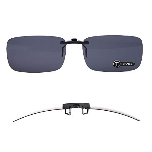 4e7617e2265 TERAISE Polarized Clip-on Sunglasses Over Prescription Glasses Anti-Glare  UV404 for Men Women