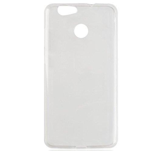 PREVOA ® Transparente Silicona TPU Cover Case Protictive Carcasa para Blackview E7 E7S Smartphone - (Transparente)