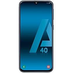 "Samsung Galaxy A40 - Smartphone de 5.9"" FHD+ sAmoled Infinity U Display (4GB RAM, 64GB ROM, 16MP, Exynos 7904, Carga rápida), Negro [versión española]"