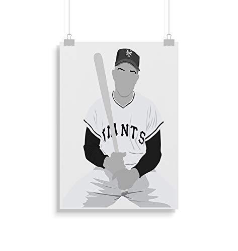 Willie Mays inspirierte Poster - Zitat - Alternative Sport/Baseball Prints in verschiedenen Größen (Rahmen nicht im Lieferumfang enthalten)