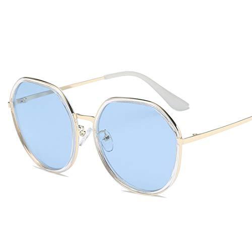 Easy Go Shopping Sonnenbrille zweifarbige reflektierende Linse Classic Frame Unisex-Schutzlinse. Sonnenbrillen und Flacher Spiegel (Farbe : Blau)