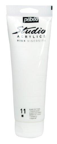 Pébéo 169011 - Beaux-Arts Studio, 1 tubetto acrilico, 250 ml, colore: Bianco di titanio