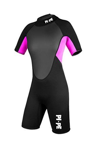 PI-PE Damen Neoprenanzug Pro Spring Short Sleeve Pink, L