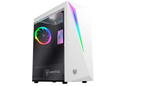 Nfortec Lynx Torre Gaming Blanca RGB (Cristal Templado) Compatible con Placas...