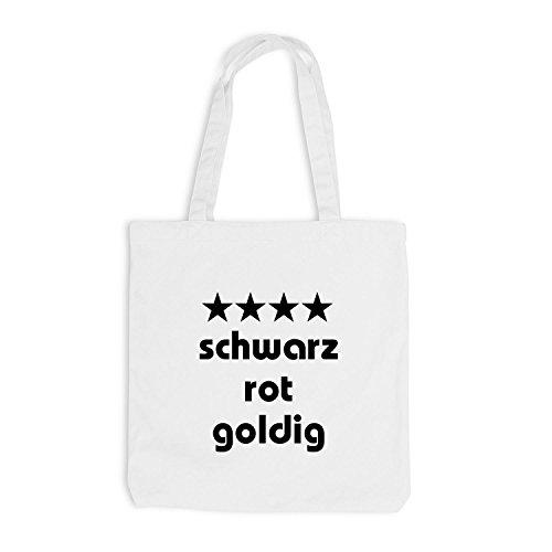 Weiß Fussball WM Deutschland Jutebeutel Schwarz Goldig Rot FXxqSSYf