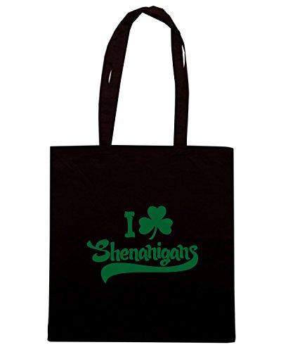 T-Shirtshock - Borsa Shopping TIR0077 i shamrock shenanigans tshirt Nero