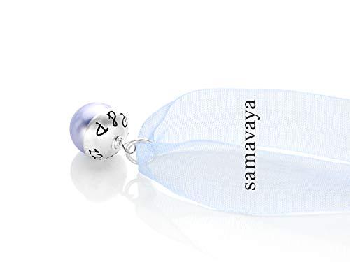 Brautschmuck mit Gravur SOMETHING BLUE 925 Silber Anhänger zur Hochzeit Partnerschmuck