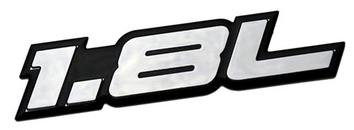 Gli-emblem Vw (1.8L Liter Embossed SILVER on Black Highly Polished Silver Real Aluminum Auto Emblem Badge Nameplate for Kia Spectra LS Sephia Elantra Forte LX Scion xD Hatchback 4 5 door Hyundai Elantra GLS Volkswagen VW Golf GTI New Classic Beetle GLX Jetta GLI Passat GL Cabrio 1.8T Sedan coupe 2 3 4 5 2dr 3dr 4dr 5dr door hatchback turbo turbocharged)