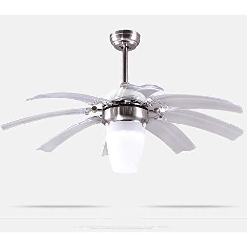 Fxing led lampadario ventilatore da soffitto lampada ventilatore elettrico lampade invisibili lampadario telescopico (edition : b)