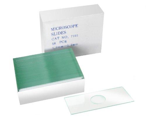 BRESSER Accessori per microscopio Vetrino con avvallamento confezione da 50
