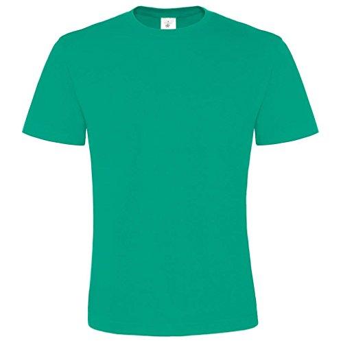 B & C Collection Herren großzügiger Schnitt Exact 2-lagig Rundhalsausschnitt Kurzarm T-Shirt Grün - Pacific Green
