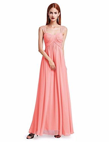 Ever Pretty Damen Lang elegante Party Abendkleider 40 Größe Pfirsich