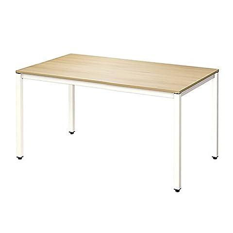 Need Schreibtische 120x60cm Computertisch PC-Tisch Bürotisch Holz Arbeitstisch Esstisch Küchentisch, Burlywood Farbe & Weiß Beine