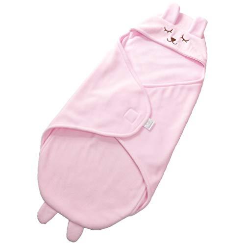 Gewickelt Decke Baby Atmungsaktiv Decke Frühling Und Sommer Kinder Schlafsack Hält Decke Universal Baby Niedlich Neugeborenes Baby Mädchen,Pink ()