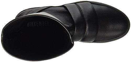 Bikkembergs Pow-Er 718 Boot W S.Leather Stretch, Baskets Hautes Femme Noir - noir