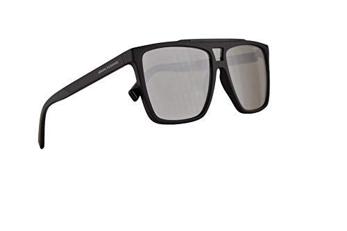 Armani Exchange AX4079S Sonnenbrille Matt Schwarz Mit Grauen Verspiegelten Gläsern 58mm 80786G AX 4079S