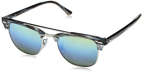 Ray-Ban RAYBAN Unisex-Erwachsene Sonnenbrille 0rb3816 1239i2 51 Silver/Greenmirrorbluegradientgre