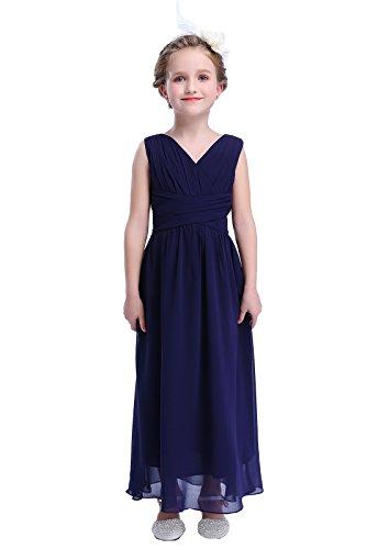 HAPPY ROSE Juniors Long Bridesmaid Dress Party Dresses Flower Girl's Dress