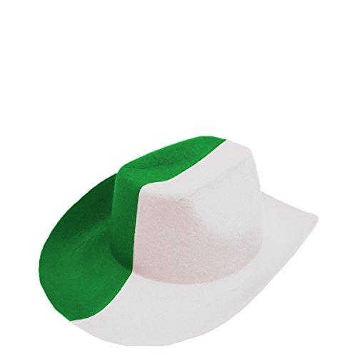 Sonia Originelli Fan Cowboy Hut Länder Fußball WM Fasching Party Farbe Grün-Weiß