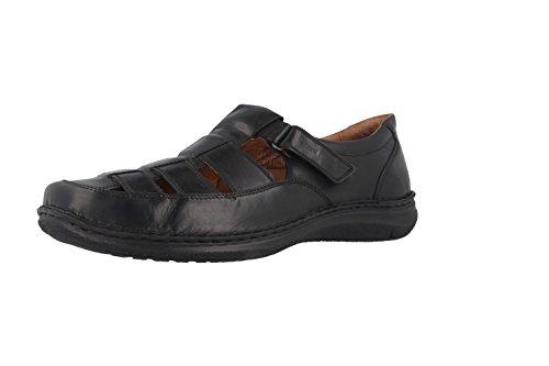 JOSEF SEIBEL - Anvers 34 - Herren offene Halbschuhe - Schwarz Schuhe in Übergrößen, Größe:50