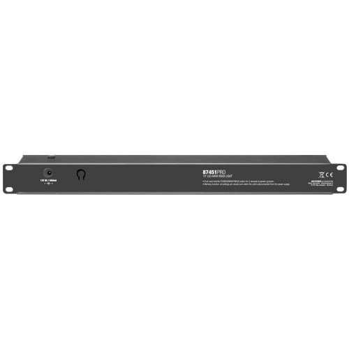 ah Accessories 87451PRO Adam Hall 48,26 cm (19 Zoll) Parts LED Array Rack Light 1 HE  schwarz (Rack Light)