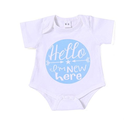 Cyond Rompers Suit for Girls, Toddler Newborn Unisex Baby Boys Girls Playsuit Arrow Color Round Letter Rompers Jumpsuit Casual Daily Outdoor Mini Bodysuit